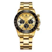 OCHSTIN Augusten 6103B multi functie quartz horloge sport lichtgevende waterdichte horloge kalender stalen band mannen horloge (goud)