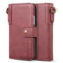 Voor Huawei Mate 20 Cowhide Texture Horizontal Flip Leather Case met Holder & Card Slots & Wallet & Lanyard(Red)