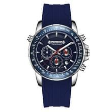 OCHSTIN 6125A multi functie chronograaf mannen sport siliconen Quartz waterdichte mannen horloge (blauw)