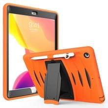 Voor iPad 10 5 2019 360 graden rotatie PC + siliconen beschermhoes met houder & hand-strap (oranje)
