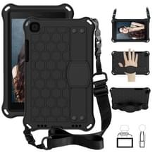 Voor Galaxy Tab A8.0 T290 / T295(2019) Honeycomb Design EVA + PC Four Corner Anti Falling Flat Protective Shell With Straps (Black+Black)