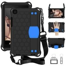 Voor Galaxy Tab A8.0 T290 / T295(2019) Honeycomb Design EVA + PC Four Corner Anti Falling Flat Protective Shell With Straps (Black+Blue)