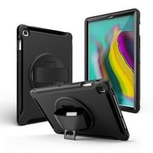 Voor iPad mini 4/5 360 graden Rotatie PC + Siliconen beschermhoes met houder & handriem(Zwart)