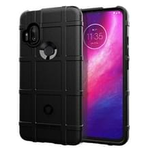 Voor Motorola One Hyper Full Coverage Shockproof TPU Case (Zwart)