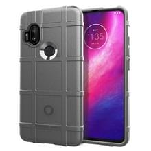 Voor Motorola One Hyper Full Coverage Shockproof TPU Case (Grijs)