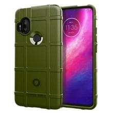 Voor Motorola One Hyper Full Coverage Shockproof TPU Case (Army Green)