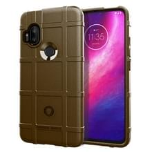 Voor Motorola One Hyper Full Coverage Shockproof TPU Case (Brown)