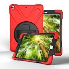 Voor iPad Pro10.5 / Air 10.5 2019 360 Graden Rotatie PC + Siliconen beschermhoes met houder & handriem(Rood)