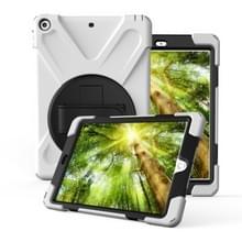 Voor iPad Pro10.5 / Air 10.5 2019 360 Graden Rotatie PC + Siliconen beschermhoes met houder & handriem(Wit)