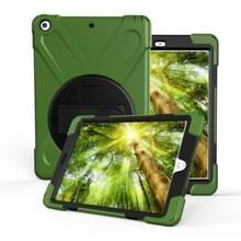 Voor iPad Pro10.5 / Air 10.5 2019 360 Graden Rotatie PC + Siliconen beschermhoes met houder & handriem(Army Green)
