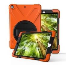 Voor iPad Pro10.5 / Air 10.5 2019 360 Graden Rotatie PC + Siliconen beschermhoes met houder & handriem(Oranje)