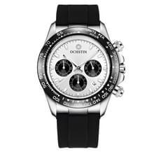 OCHSTIN 6103 multi functie quartz horloge siliconen horloge band sport lichtgevende waterdichte horloge (Silery)