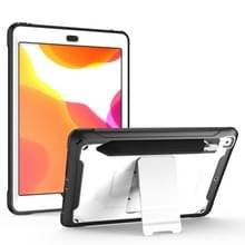 Voor iPad 9.7 (2018) & (2017) 360 Graden Rotatie PC + Siliconen beschermhoes met houder & handriem(Wit)