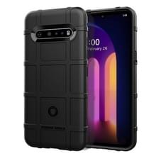Voor LG V60 ThinQ Full Coverage Shockproof TPU Case(Zwart)