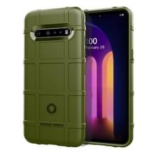Voor LG V60 ThinQ Full Coverage Shockproof TPU Case (Army Green)