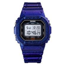 Skmei 1608 Multifunctionele Student Electronic Watch Waterproof Timing Siliconen Sporthorloge (Blauw)