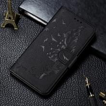 Voor Xiaomi Mi 10 & 10 Pro Litchi Texture Feather Embossing Horizontal Flip Leather Case met Holder & Card Slots & Wallet & Photo Frame & Lanyard(Black)
