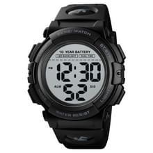 Skmei 1562 Multi function Outdoor Sports Waterproof Student Electronic Watch Tien jaar Batterij Mens Watch (Zwart)