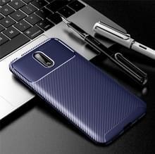 Voor NOKIA 2.3 Carbon Fiber Texture Shockproof TPU Case(Blue)