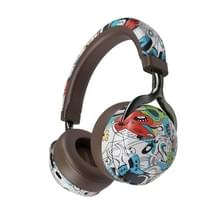 VJ086 Graffiti Headset Wireless Sports Bluetooth Headset Water Transfer Color Print Headset  Ondersteuning TF  FM(Dazzle Colour)