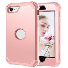 Voor iPhone SE 2020 Siliconen + PC Driedelige Anti-drop Mobile Phone Protection Bback Cover (Rose Gold)