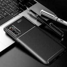 Voor vivo iQOO Neo3 5G Carbon Fiber Texture Shockproof TPU Case(Zwart)