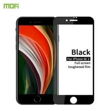 For iPhone SE 2020 MOFI 9H 2.5D Full Screen Tempered Glass Film(Black)