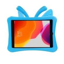 Voor iPad 10.2(2019)/10.5 Butterfly Bracket Style EVA Children Falling Proof Flat Cover beschermende Shell/Case(Blauw)