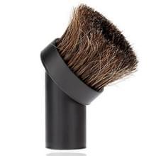 32mm stofzuiger opzetborstel Home gebruik gemengd paard haar ovale schoonmaak borstel hoofd stofzuiger accessoires Tool(Black)