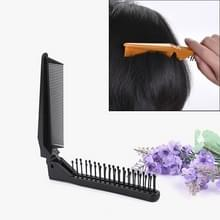 Portable Travel Folding Comb Anti-statische Massage Comb (Zwart)