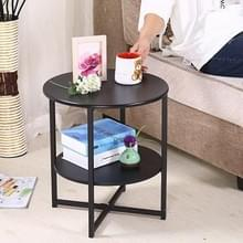 Eenvoudige moderne woonkamer mini ronde theesalon tafel (mat zwart)