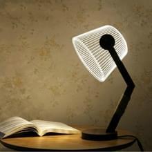 Mode eenvoudige acryl Home slaapkamer bed creatieve 3D nachtlampje tafel lamp (EU plug)