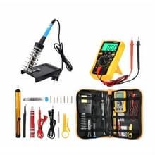 60W Verstelbare temperatuur elektrische ijzeren set met multimeter  plug type:EU Plug