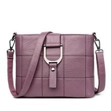 Luxe messenger bags vrouw tas Lederen schoudertassen tote tas (paars)