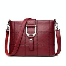 Luxe messenger bags vrouw tas Lederen schoudertassen tote tas (wijn rood)