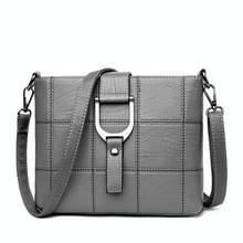 Luxe messenger bags vrouw tas Lederen schoudertassen tote tas (grijs)