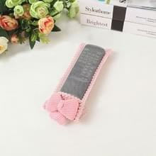 3 PCS Lace Bow AFstandsbediening Case Dustproof Cover  Grootte: 18x8cm (Rood)