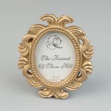 2 PC'S Floral foto ronde foto frame houder bruiloft Home decor (goud)