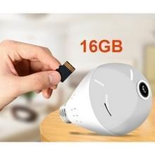 E27 Bulb Shape 360 graden panorama Camera 1080P HD WiFi externe Webcam Monitoring voor IOS / Android mobiele telefoon  Support bewegings detectie & twee richtingen Voice(16GB)