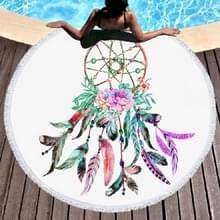 Dream Catcher patroon ronde polyester strandlaken met kwast  grootte: 150 x 150cm (als foto)