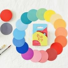 2 PC'S kleur esthetiek stickers kleur circulaire stickers hand account foto album DIY decoratieve zegel stickers