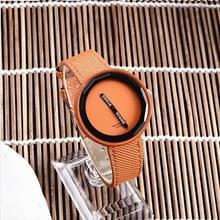 Eenvoudige stijl ronde Dial matte lederen band quartz horloge voor mannen/vrouwen (oranje)