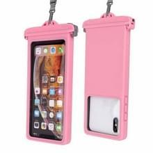 Voor smartphones onder 6 9 inch IPX8 waterdichte telefoonhoes (roze)