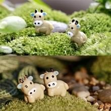 10 PCS Mini Cow Moss Glas Keramische Ambachten Tuin decoratie DIY montage speelgoed (grijs)