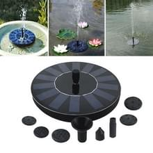 Tuin Automatische Zonne Drijvende Fontein Waterval (Zwart)