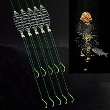 15 PCS / 3 Sets Gestrande Dubbele Haak Anti-kronkelende Silver Carp Fishing Group Spring Fishing Hook  Specificatie: 9 (Fluorescerende haak)