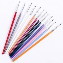 Kleurrijke Nail Art liner dun schilderij borstel ontwerp dotting pen acryl fijne tips tekening lijnen bloem tool