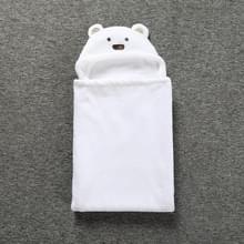 Schattige dieren cartoon Baby's deken Kids Hooded badjas peuter baby badhanddoek (wit)