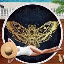 Dierlijke patroon ronde super fijne Fiber strandlaken met kwast  grootte: 150 x 150cm (vlinder)