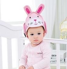 Baby kinderen Baby Beschermende Katoenhoofd Bescherming Soft Hat Helm Anti-botsing Veiligheid Veiligheid Sport Baby Caps (Konijn)